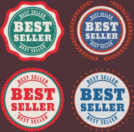 best seller stamps sets colored flat circle design