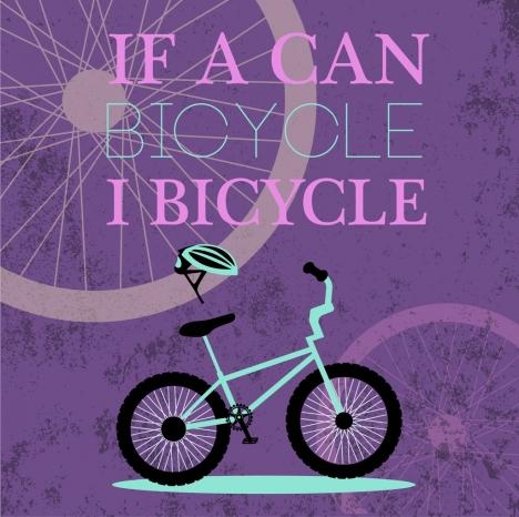 bicycle promotion banner violet grunge decoration