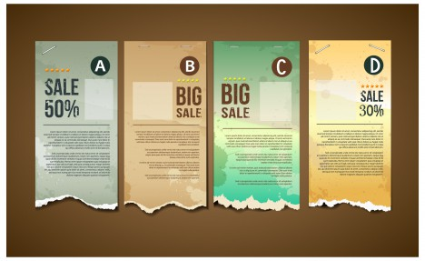 big sale paper banner collection