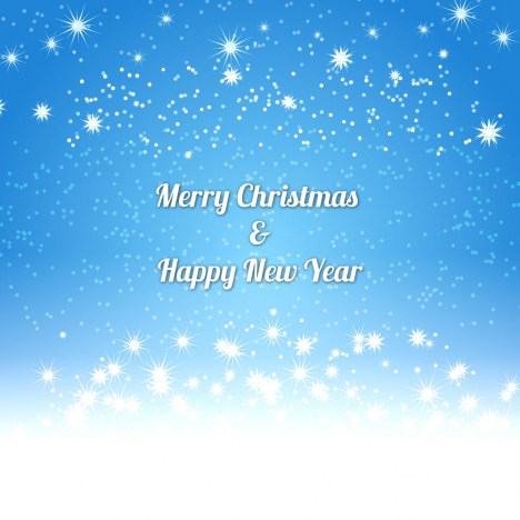blue sky light happy new year background