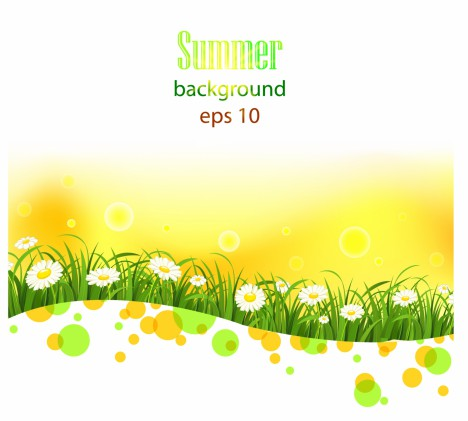 Bright summer flowers  background