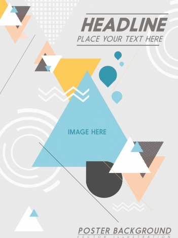 brochure cover template colorful triangles decoration