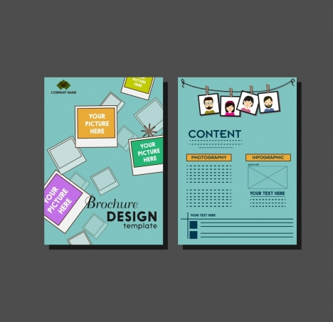 brochure design template photography decoration style