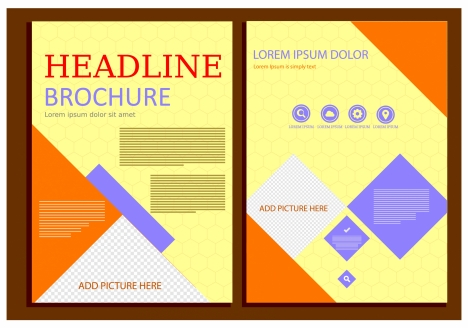 brochure design with colorful abstract geometric style