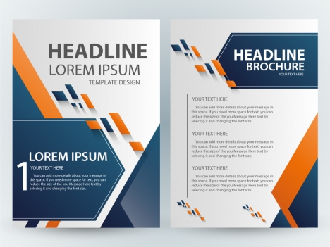 Brochure Template Design With Green Elegant Style Vectors Stock - Elegant brochure templates