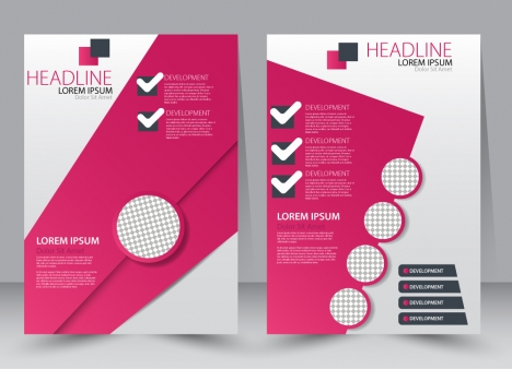 brochure vector illustration with modern circles checklist style