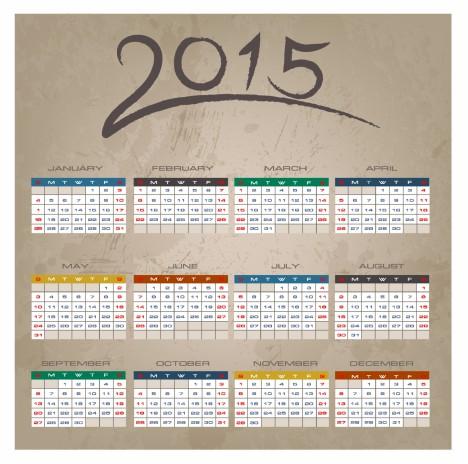 Brush Stroke 2015 Calendar