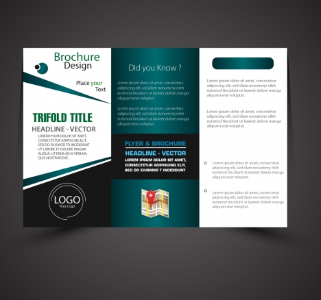 Business Brochure Design With Modern Trifold Style Vectors Stock