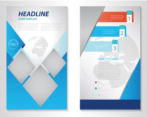 business brochure vector illustration with earth vignette