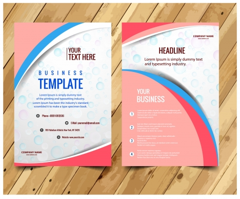 business brochures design with modern bokeh style