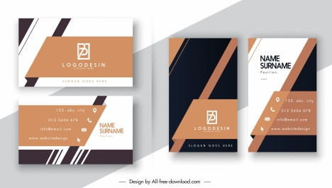 business card templates elegant modern abstract flat decor