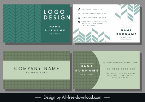 business card templates repeating symmetric pattern decor