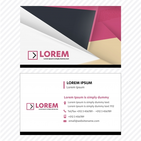 business card vector template tech logo link network visiting card corporate identity