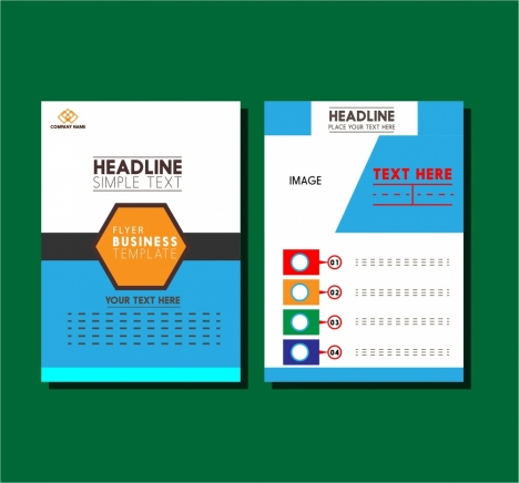 business flyer design layout modern style vectors stock in format