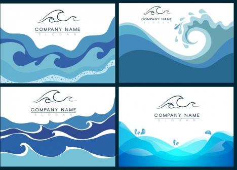 business identity decorative sets waves decoration