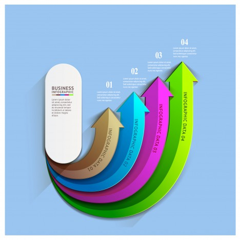 business infographic colorful arrow