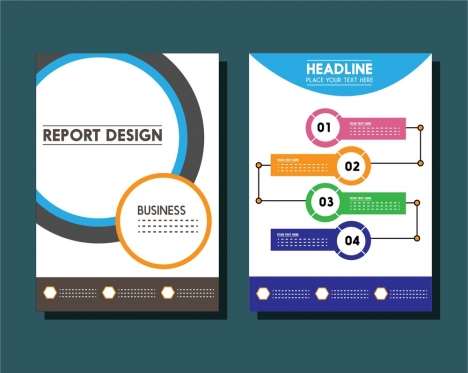 business report templates circles and infographic styles