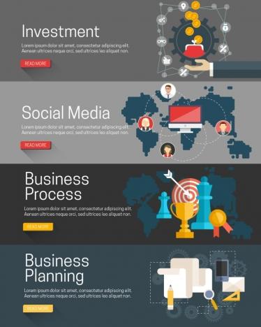 business webpages design in dark color