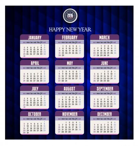 calendar 2016 template simple