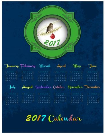 calendar 2017 templates bird