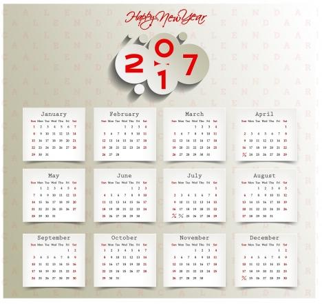 calendar 2017 templates paper stick note