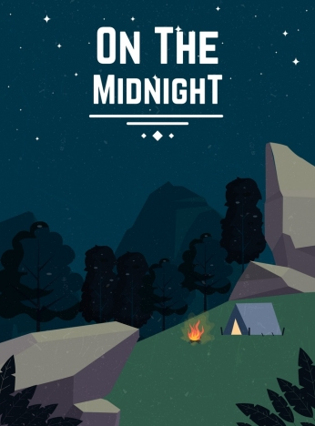 camping background tent rocky mountain night time icons