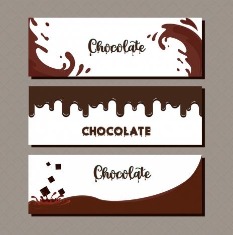 card cover templates melting splashing chocolate liquid decor