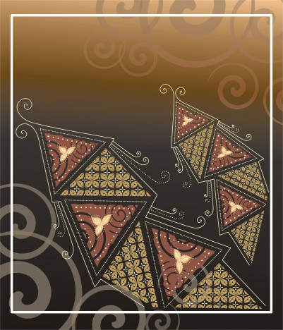 Ethnic Touch Batik Vector Graphic Card