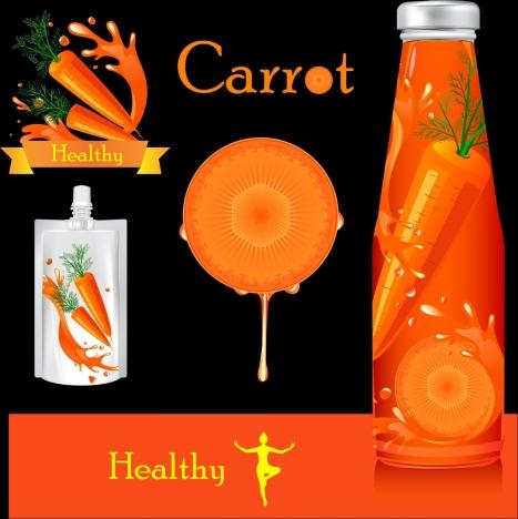 carrot juice advertising red fruit bottles ornament