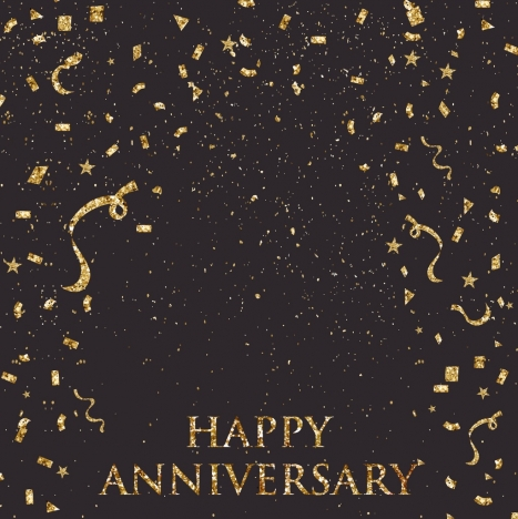 celebration background black yellow design confetti decor