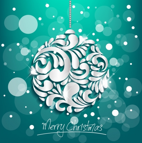 christmas banner shiny curved decoration bokeh background