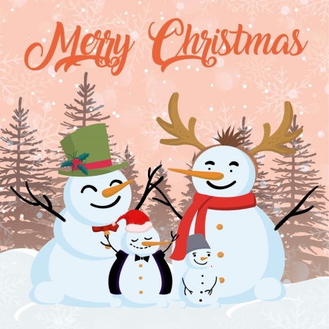 christmas banner snowman icons classical design