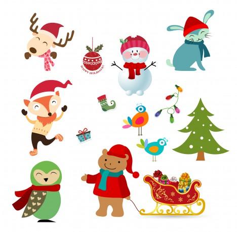 christmas character design element