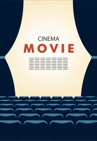 cinema movie background empty seats stage decoration