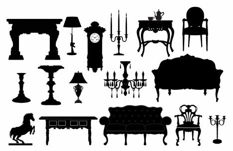 Classical Furniture Silhouettes