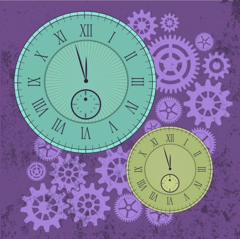 clocks background grungy gears backdop classical decoration
