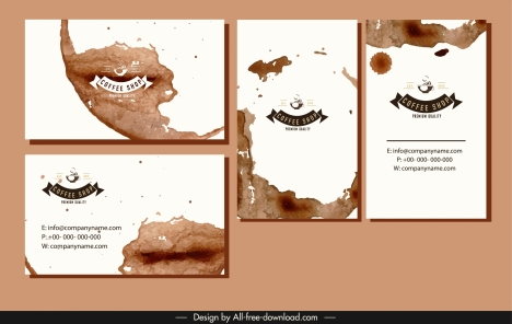 coffee business card templates brown grunge color decor
