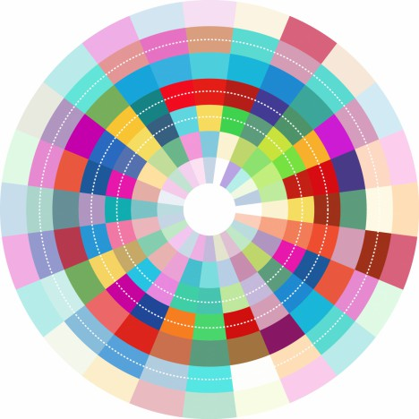 colorful abstract circle design