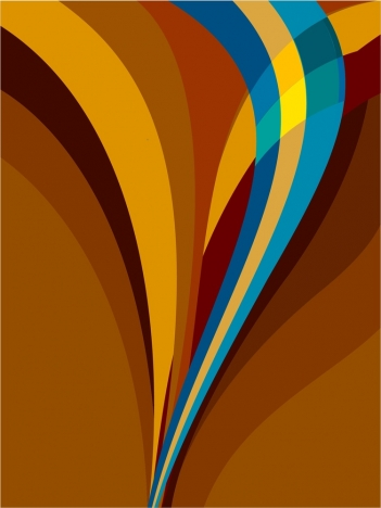 colorful abstract vector curved lines design