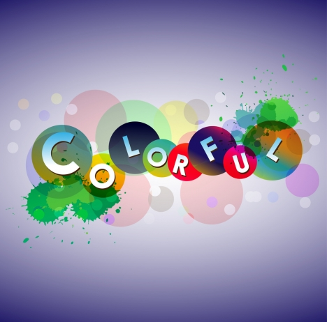 colorful background design text grunge and bokeh style