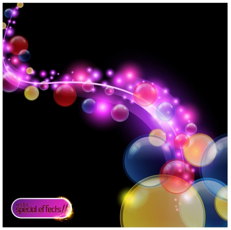 colorful bubble circle abstract background