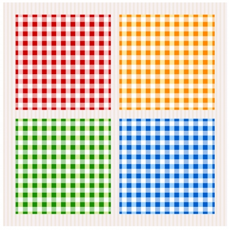 colorful checkered pattern sets vector illustration
