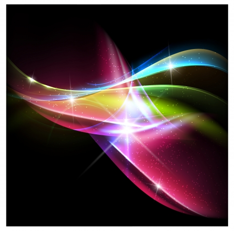 colorful smooth wave abstract background