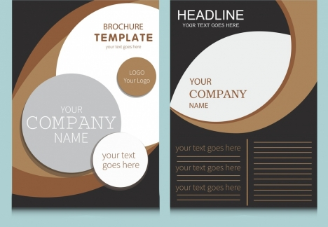 company flyer template modern circles curves decoration