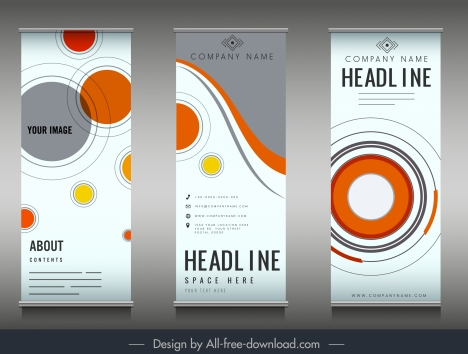 company poster templates colorful flat circles decor