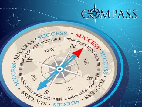 compass background closeup modern 3d design