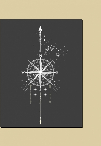 compass background retro black white sketch