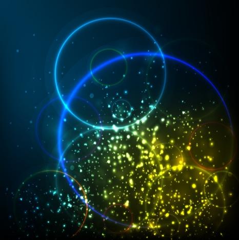contrast spakling background bright circles design