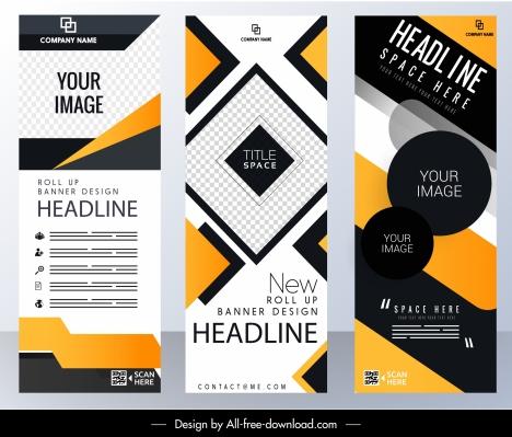 corporate banner templates modern abstract technology vertical design