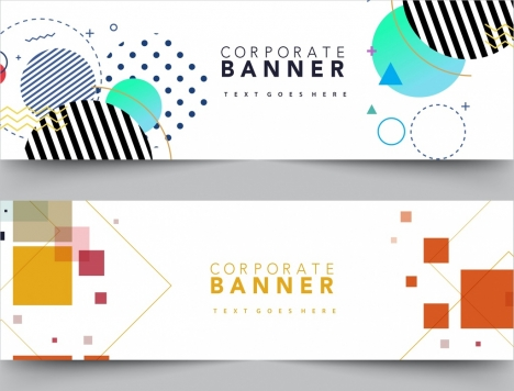 corporate banner templates modern geometric design